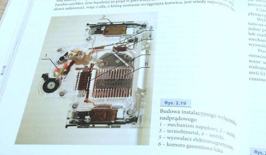 budowa wyłącznika nadprądowego
