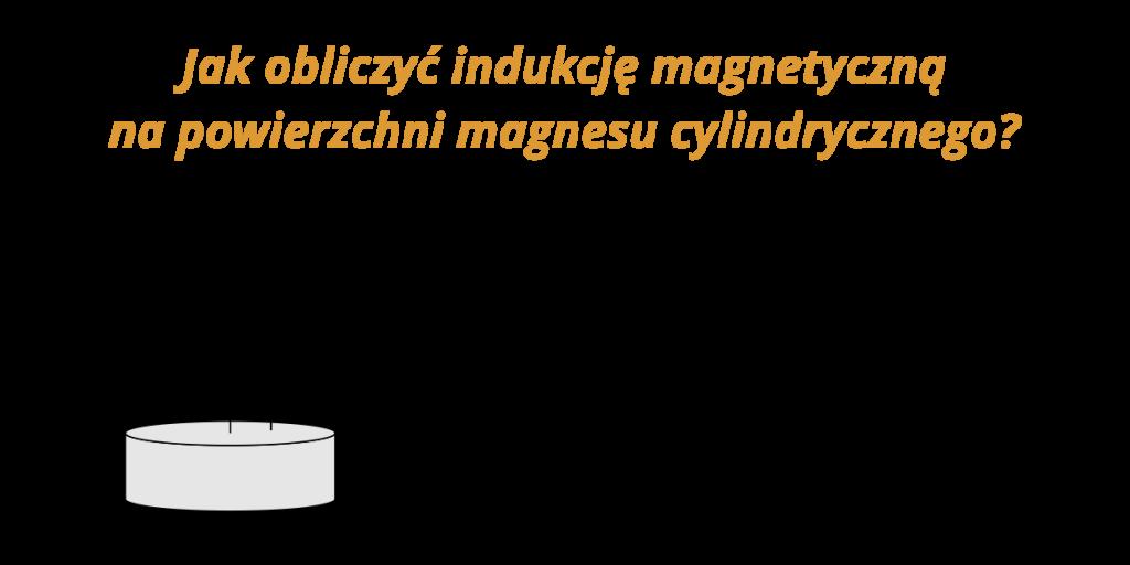 jak obliczyć indukcję magnetyczną na powierzchni magnesu
